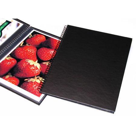 "Print File Wire Bound Portfolio Edition Album, 8.5"" x 11"" Format, Black, with Twelve Pages, Dimensions: 9-15/16"" w x 11-15/16"" h image"