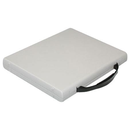 """Print File Archival Workbox, 3 Ring Binder Box with a Carry Handle, 1-1/2"""" Deep, 1.0"""" D-ring, Gray image"""