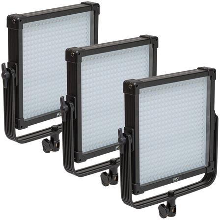 F & V K4000 SE 1x1 V-Mount Daylight LED Studio Panel 3-Light Kit, Includes 3x Milk-White Diffusion Filter and Nylon Case
