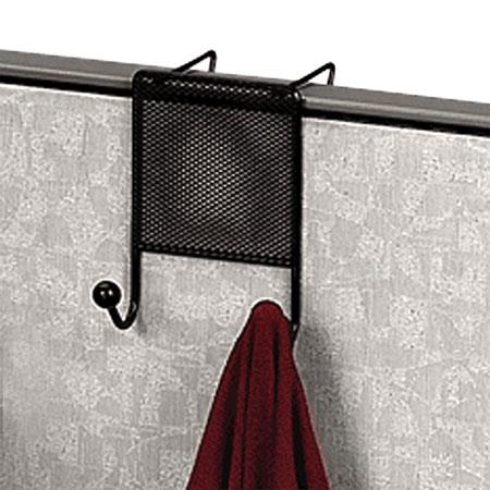 Fellowes Mesh Partition Additions Double Coat Hook, Black