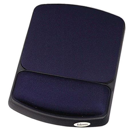 Fellowes Gel Wrist Rest and Mouse Rest, Sapphire/Black