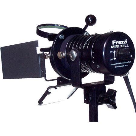 Frezzi MFIC-PTS Dimmer Mini-Fill On Camera Video Light with 30 Watt Bulb, DC Power