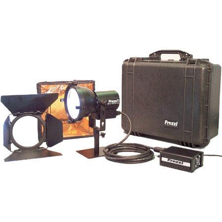 Frezzi SSGK2-200 Super-Sun Gun 200 Watt Dual Head AC/DC HMI Video Light Kit