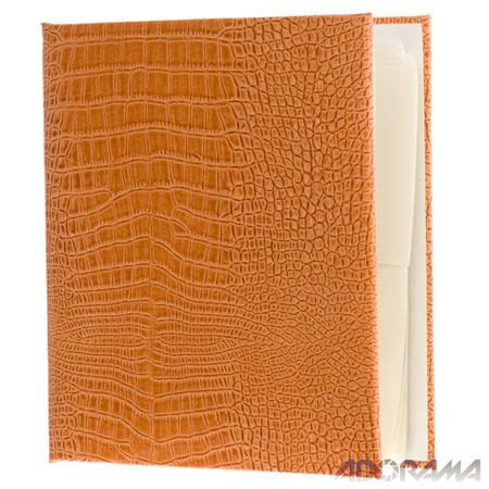 "Gallery Leather 3 Ring Compact Embossed 9x8"" Album with Bonded Leather Sunset Covers, 60 Pages holds Two 3x5"", 4x6"" Photos per Side."