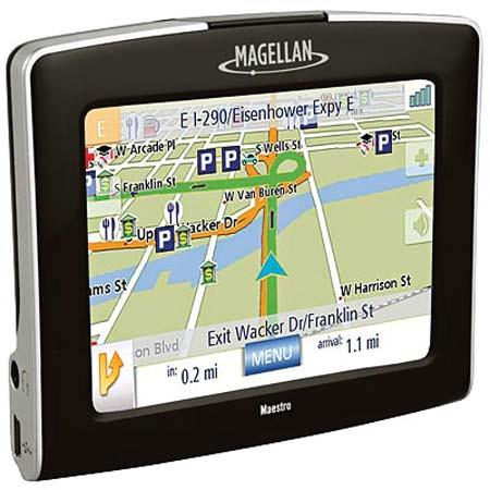 "Magellan Maestro 3225 GPS with 3.5"" QVGA Color Touch LCD Screen, Covers U.S, Puerto Rico, & Canada - Refurbished by Magellan image"