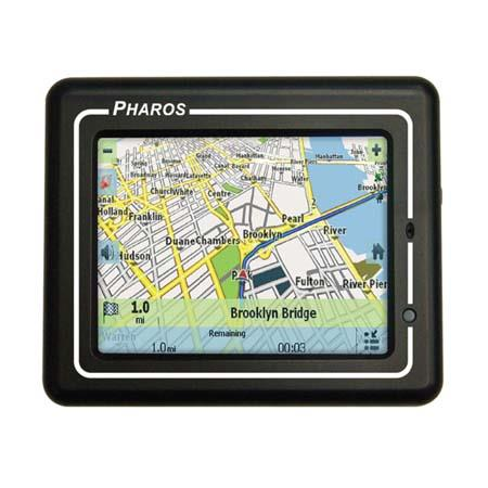 "Pharos Drive GPS 150, Portable Pocket Sized GPS Navigation System with Built in Maps and a 3.5"" Color LCD Screen image"