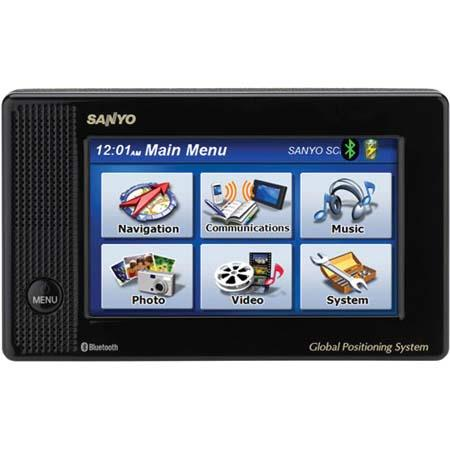 "Sanyo Easy Street NVM-4050 Portable GPS Car Navigator with Text-to-Speech, Bluetooth, 4"" Touch-Screen LCD, MP3 image"
