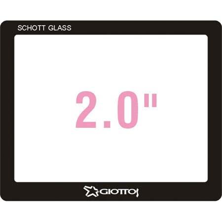 Giottos Aegis 47.0x38.7mm Professional Glass LCD Screen Protector for Canon EOS 20D & Powershot A550, 12 Layers of Multi-Coatings Each Side.
