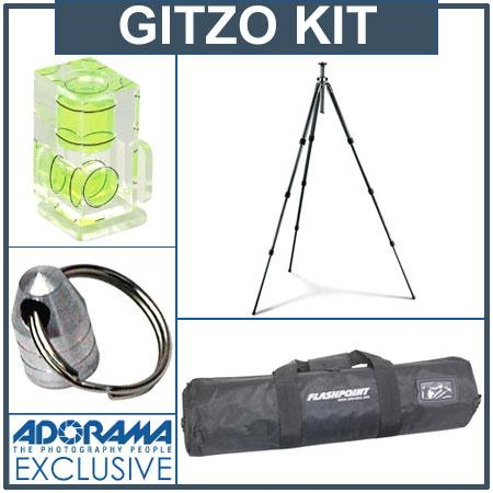 Gitzo GT1541 Series 1 C.F.Tripod Legs Kit, with Adorama Deluxe Tripod Case, Double Bubble Level, Tripod Hanger