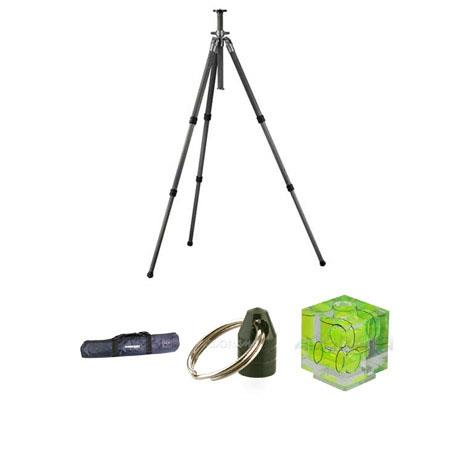 Gitzo GT3531 Series 3 6X C.F.Tripod Legs Kit, with Adorama Deluxe Tripod Case, Double Bubble Level, Tripod Hanger