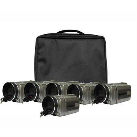 Hamilton Buhl High Definition Digital Camcorder Explorer Kit with 6 HDV5200 Cameras, 64MB Internal, 5MP Image Sensor, 2.5