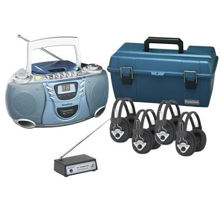 Hamilton Buhl 4 Station Wireless Val-U-Pack CD Listening Center with W900-Multi Wireless Transmitter, W901-Multi - Multi Channeled Wireless Headphone