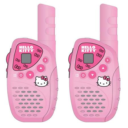 Hello Kitty KT2022 Mini FRS/GMRS 2 Piece Walkie Talkie Radio System Set, 22 Channels