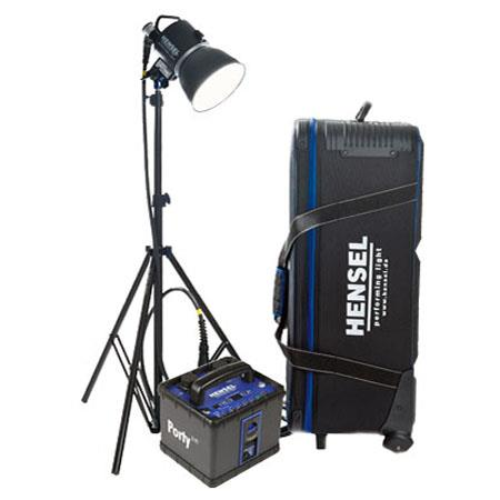 Hensel Porty L 600 Power Pack Kit with EH Pro Mini 1200-P Speed Flash Head, Modeling Lamp, Adapter Cable, Modeling Lamp, Quick Charger