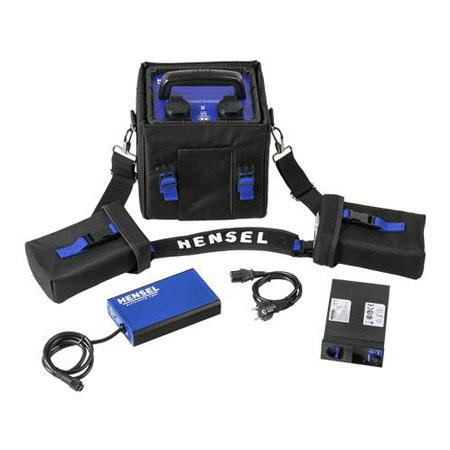 Hensel Power Max L Lithium Mobile Power Supply Kit, Power Supply, Battery Pack, Quick Charger, Satchel Case, Shoulder Strap, 2 Battery Pouch, 120VAC