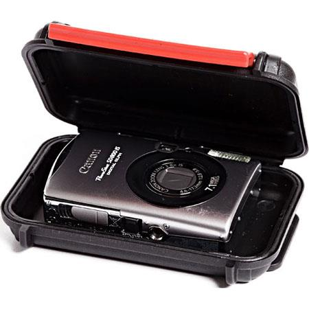 HPRC 1300E Crushproof iPod/Point and Shoot Watertight, Unbreakable Hard Case, Empty-No Foam or Dividers, Black (ID: 4.57x2.66x1