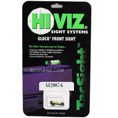 HiViz GL2007-G Interchangeable Resin Overmolded Glock Front Sight with Green LitePipe, Fits All Glock Models, Except Ported or Compensated Models