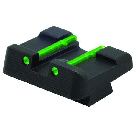 HiViz GL2109 6.9mm Rear, Fiber Optic Glock Sight, Green, fits .45 ACP, 10mm and .45 GAP Caliber Glock Pistols.