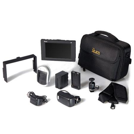 iKan D5 Field Monitor Deluxe Kit for Canon LP-E6 Battery