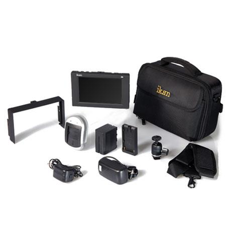 iKan D5w Field Monitor Deluxe Kit for Canon LP-E6 Battery