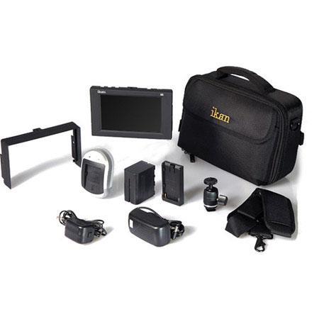 Ikan D5W Field Monitor Deluxe Kit for Nikon EN-EL15, Includes 5.6' LCD Monitor, DV Battery, DV Charger, DV Plate, Case, Monitor Visor, Shoe Mount