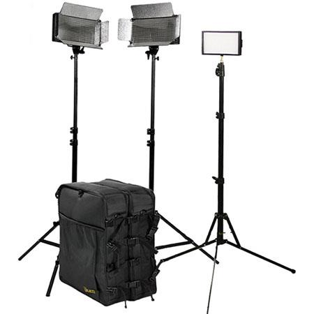 ikan IDK2513 Large Interview Kit, 2 ID 500 LED Light, iLED 312 LED Light, 3 Light Stand, 2 Utility Light Bag