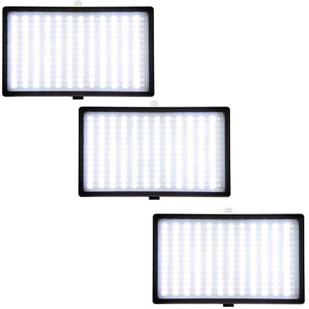 ikan Iled 312 Three Point Light Kit, with 3 iLED 312 LED Lights, Stands, Diffusers, A/C Power Adapters, 6 Sony L Series Style DV Batteries, 3 Dual Battery Charg