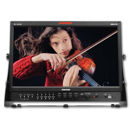 """Ikan 17.3"""" Full HD LCD Professional Monitor with 12G-SDI Single Link 4K Support, 1920x1080"""