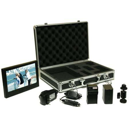 "Ikan 8"" V8000HD TFT LCD Monitor Deluxe Kit with Metal Hard Case, Lithium Ion Battery & Charger image"
