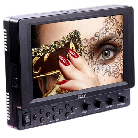 "iKan VH7I-SU 7"" HDMI LCD Monitor with IPS Panel and BP5-SU Sony BP-U DV Battery Plate, 1280 x 800, 800:1 Contrast Ratio, 400 cd/m2, 30 ms Response Time"