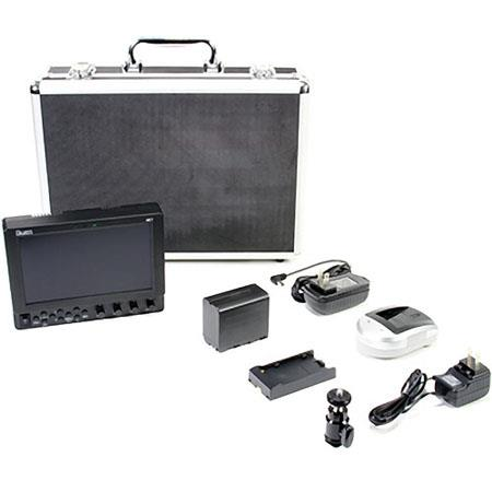 iKan VK7i Field Monitor Deluxe Kit for Canon LP-E6 Battery