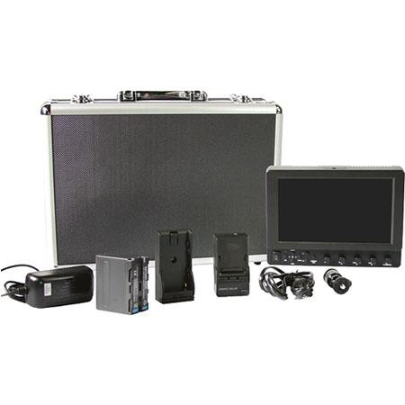 ikan VX7E-S-DK VX7e 7' Monitor Deluxe Kit with Sony DV Battery Plate, Includes Battery Charger, Metal Case and Shoe Mount