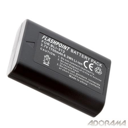 Flashpoint Replacement Rechargeable Lithium Ion Battery for Leica BM8 Digital Camera Battery, 3.7 Volts, 1700mAh. BLI-312 battery