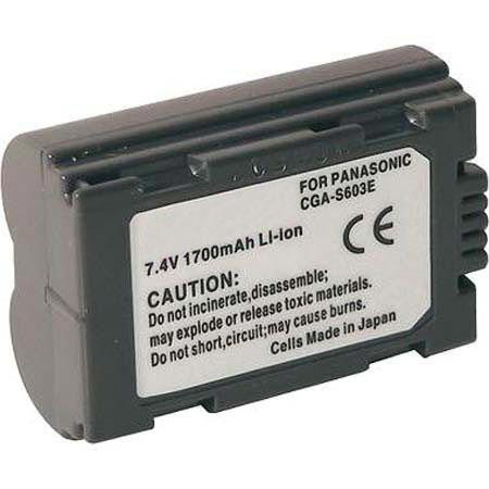 Adorama Replacement Lithium Ion Battery for Panasonic CGA-S603A & Leica BP-DC1 Digital Camera Battery, 7.4v, 1700mAh