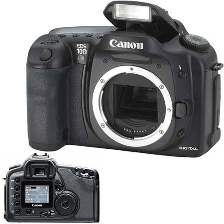 Canon EOS-10D Digital SLR Camera Body Kit, 6.3 Megapixels, Interchangeable Lenses - Refurbished By Canon U.S.A. image
