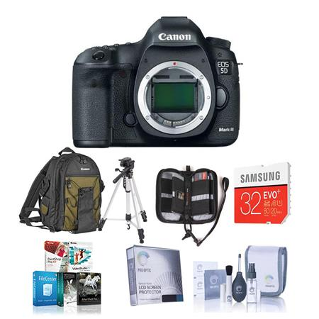 Canon EOS-5D Mark III Digital SLR Camera Body, - USA Warranty - with 32GB Class 10 SDHC Memory Card, and Deluxe Photo Backpack 200EG