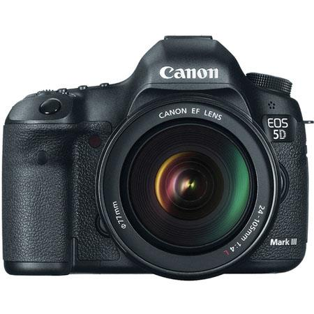 Canon EOS-5D Mark III Digital SLR Camera Body Kit with EF 24-105mm f/4L Image Stabilized Lens