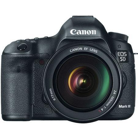 "Canon EOS-5D Mark III Digital SLR Camera Body Kit with EF 24-105mm f/4L Image Stabilized Lens "" Open Box """