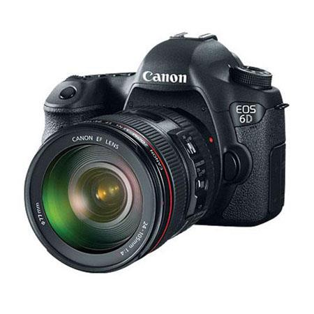 Canon EOS-6D Digital SLR Camera Kit with EF 24-105mm f/4L IS USM Lens - Special Promotional Bundle -