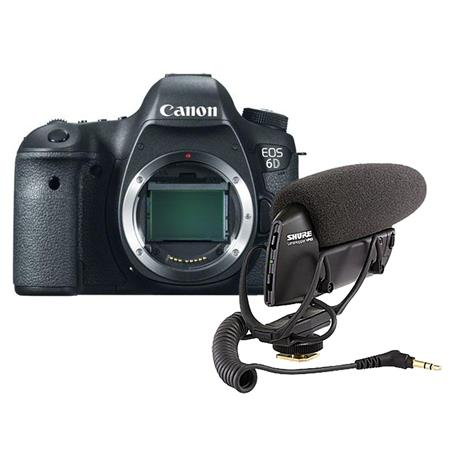 Canon EOS-6D DSLR Camera Body, - Bundle With Shure VP83 LensHopper Camera-Mount Condenser Microphone