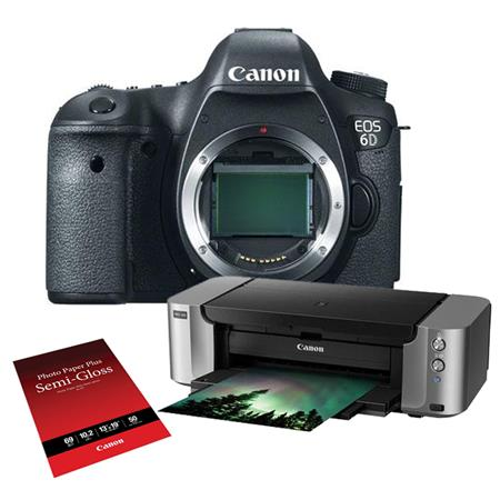 Canon EOS-6D Digital SLR Camera Body, 20.2 Megapixel, Full Frame CMOS Sensor - Special Promotional Bundle