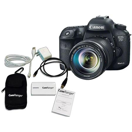Canon EOS 7D Mark II Digital SLR Camera with EF-S 18-135mm IS STM Lens Kit, Bundle With CamRanger iOS Remote Camera Controller