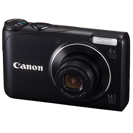 Canon PowerShot A2200 Digital Camera, 14.1 Megapixel, 4x Optical/4x Digital Zoom, 2.7-inch LCD Display, 720p HD Video, Black - Refurbished