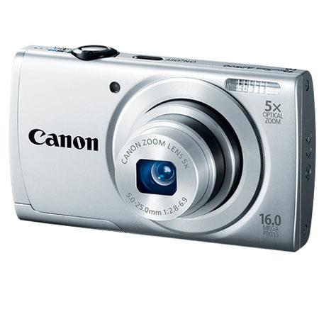 Canon PowerShot A2500 Digital Camera, 16 Megapixel, 5x Optical Zoom, 720 HD Video, Smart Auto, Silver