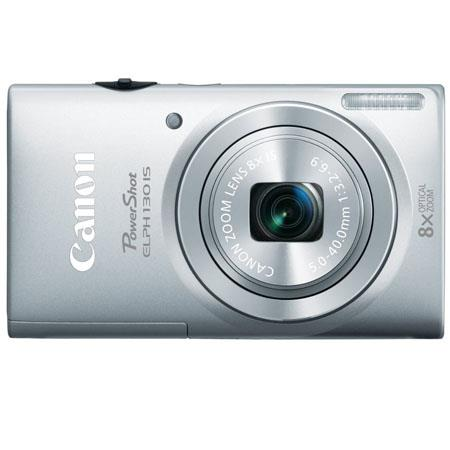 Canon PowerShot ELPH 130 IS Digital ELPH Camera with 16.1 Megapixel, Built-in Wi-Fi, 8x Optical Zoom, 28mm Wide-Angle Lens, 720p HD Video, Silver