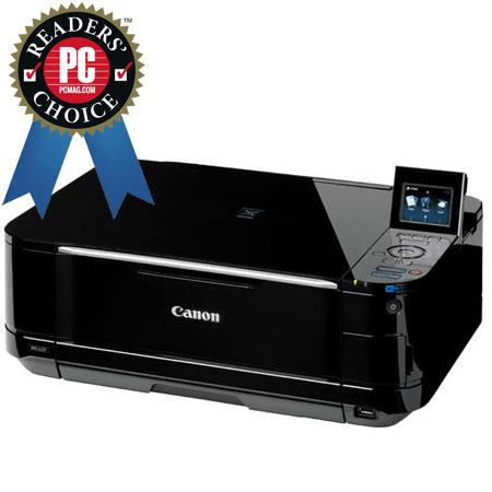 "Canon PIXMA MG5220 Wireless Inkjet Photo All-in-One Printer with PP-201 Bonus Paper, 2.4"" LCD, 9600 x 2400 Color dpi Print Resolution image"