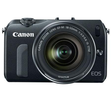 CANON EOS M Mirrorless Digital Camera - EF-M 18-55mm f/3.5-5.6 IS STM Zoom Lens