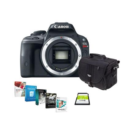 Canon EOS Rebel SL1 Digital SLR Camera Black Body - BUNDLE - with 16GB SDHC Memory Card, Camera Bag - Special Professional Software Package (Includes Corel PaintShop Pro X7, Corel AfterShot Pro 2, Nuance OnmiPage 18, FileCenter Standard 7)