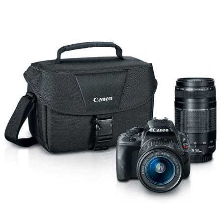 Canon EOS Rebel SL1 DSLR Camera 2 Lens Kit with EF-S 18-55mm f/3.5-5.6 IS STM Lens, and EF 75-300mm F/4-5.6 III Lens