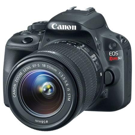 "Canon EOS Rebel SL1 DSLR Camera with EF-S 18-55mm f/3.5-5.6 IS STM Lens, 18MP, 3"" Touchscreen LCD, Full HD 1080 Video - Black"